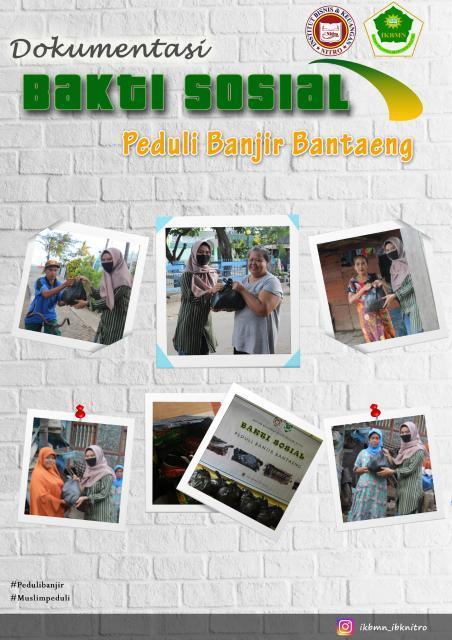 IKBMN IBK Nitro Salurkan Bantuan Kepada Korban Banjir di Kabupaten Bantaeng