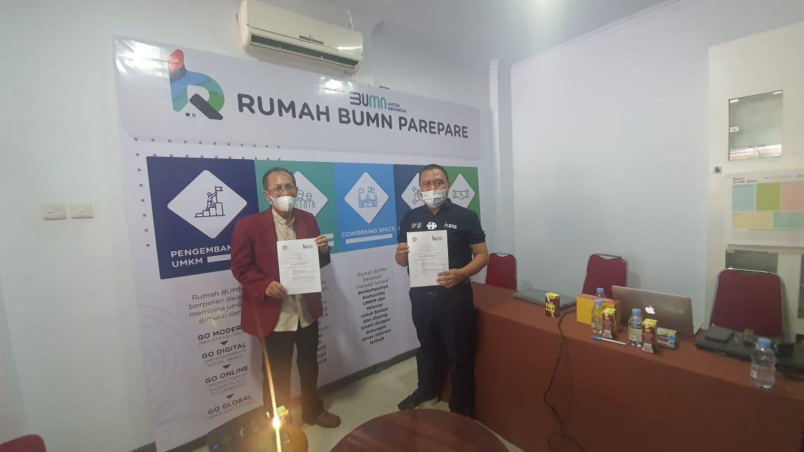 IBK Nitro Jalin Kerjasama dengan Rumah BUMN Pare – Pare terkait Pengembangan Bisnis Digital