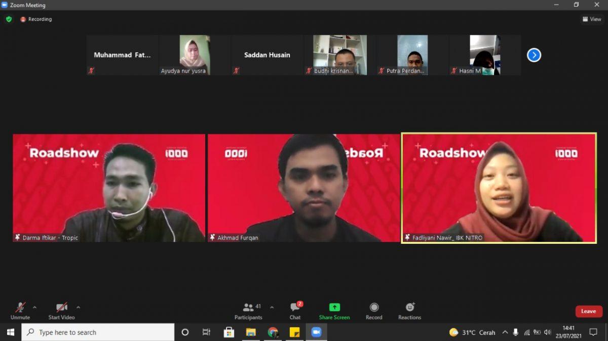 Roadshow Gerakan Nasional 1000 Startup Digital 2021 Hadir di IBK Nitro dukung Pengembangan SDM Bisnis Digital