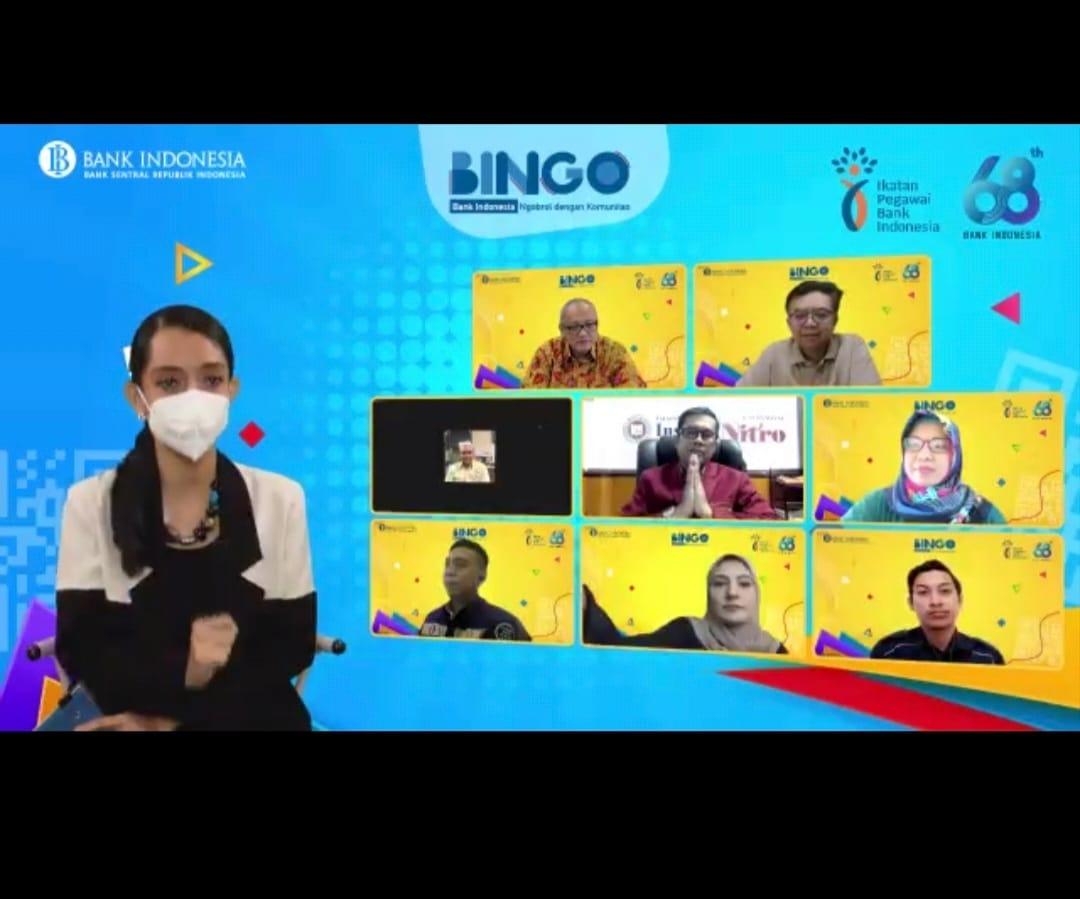 """IBK Nitro Satu-satunya PTS yang di Undang dalam Acara BINGO """"Bank Indonesia Ngobrol Bareng Komunitas"""" Sulsel 2021"""